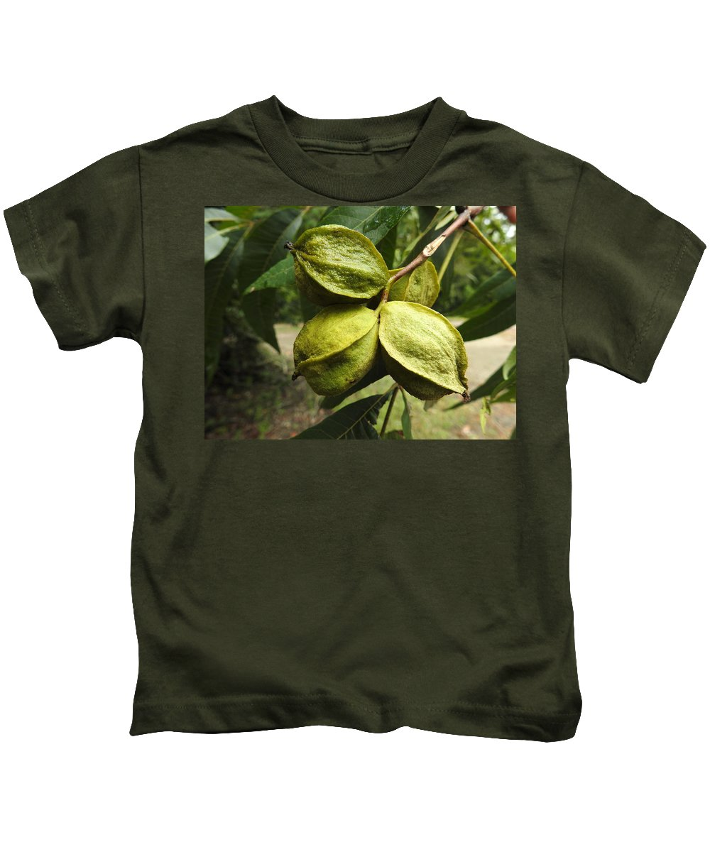 Nut Kids T-Shirt featuring the photograph Bitter Pecan by Delana Epperson