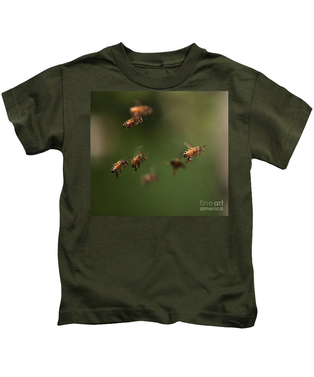 Bee Kids T-Shirt featuring the photograph Bizzzzzzz by Robert Pearson