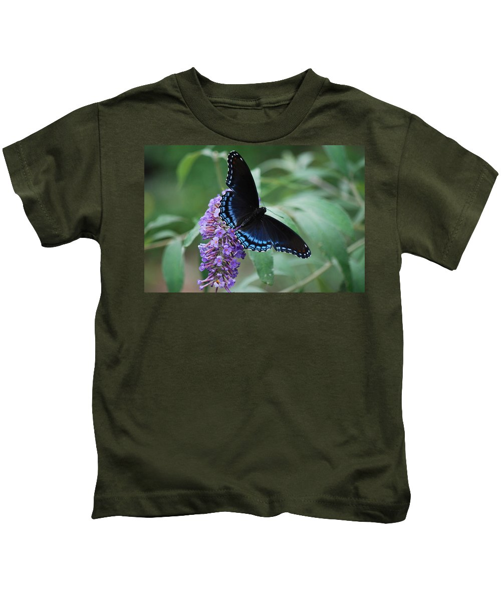 Butterfly Kids T-Shirt featuring the photograph Black Beauty by Lori Tambakis