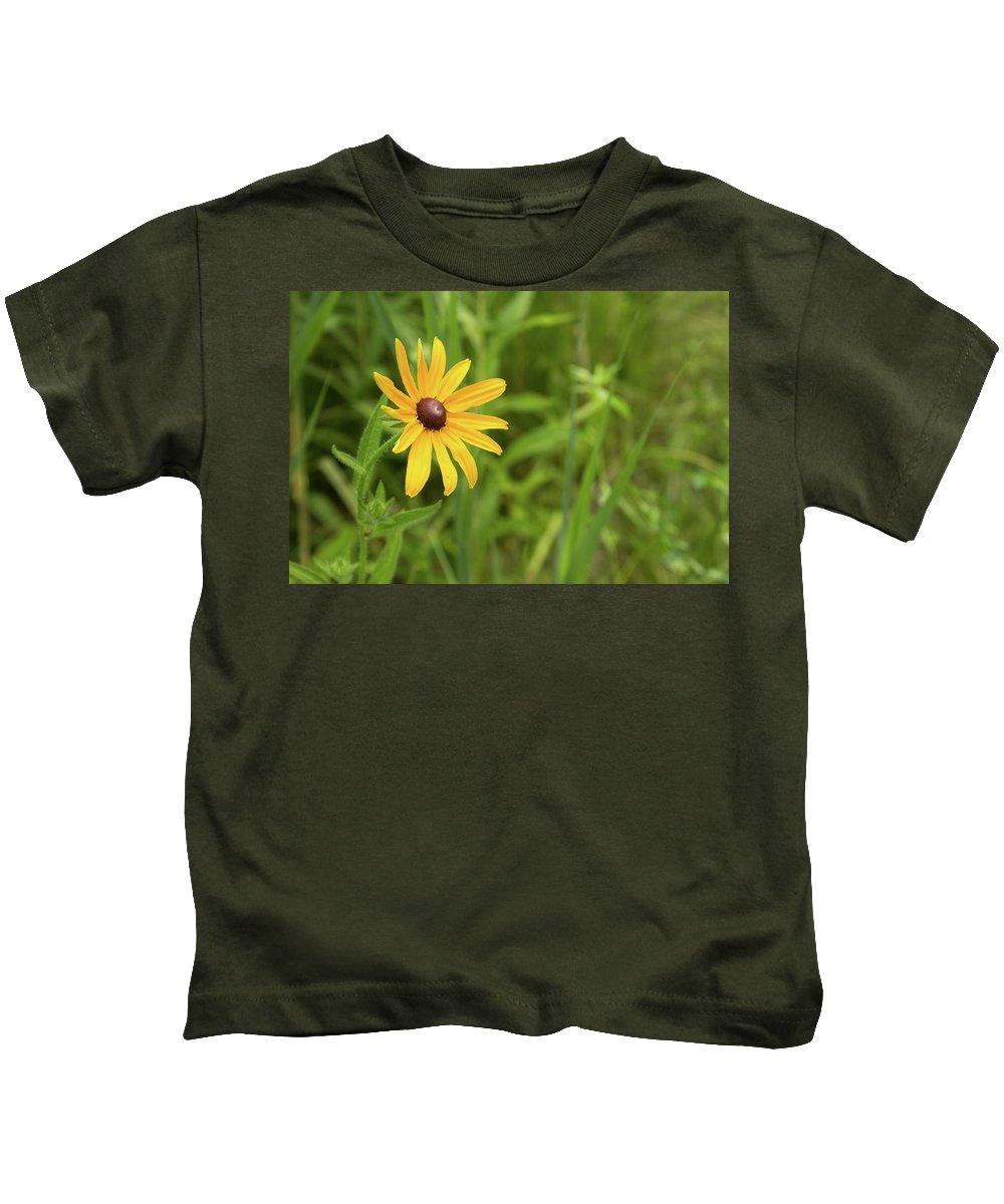 Rudbeckia Hirta Kids T-Shirt featuring the photograph Black Eyed Susan Vi by Lori Lynn Sadelack