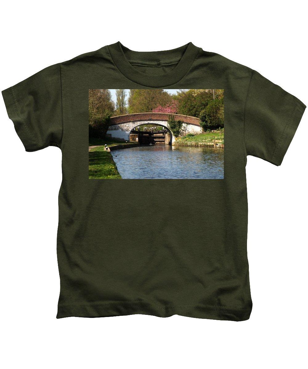Black Jack Kids T-Shirt featuring the photograph Black Jacks Bridge And Lock by Chris Day