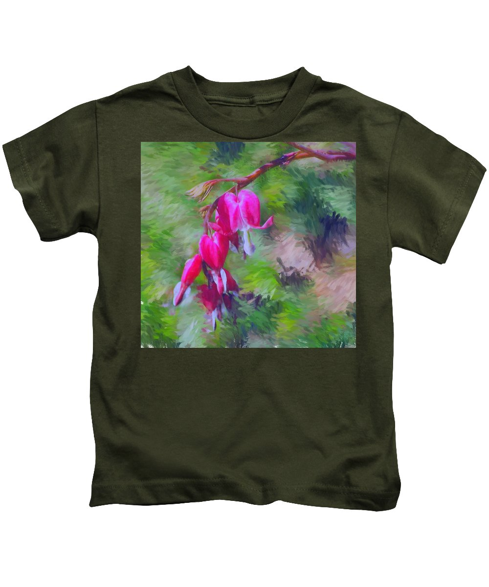 Daffodil Kids T-Shirt featuring the photograph Bleeding Heart by David Lane