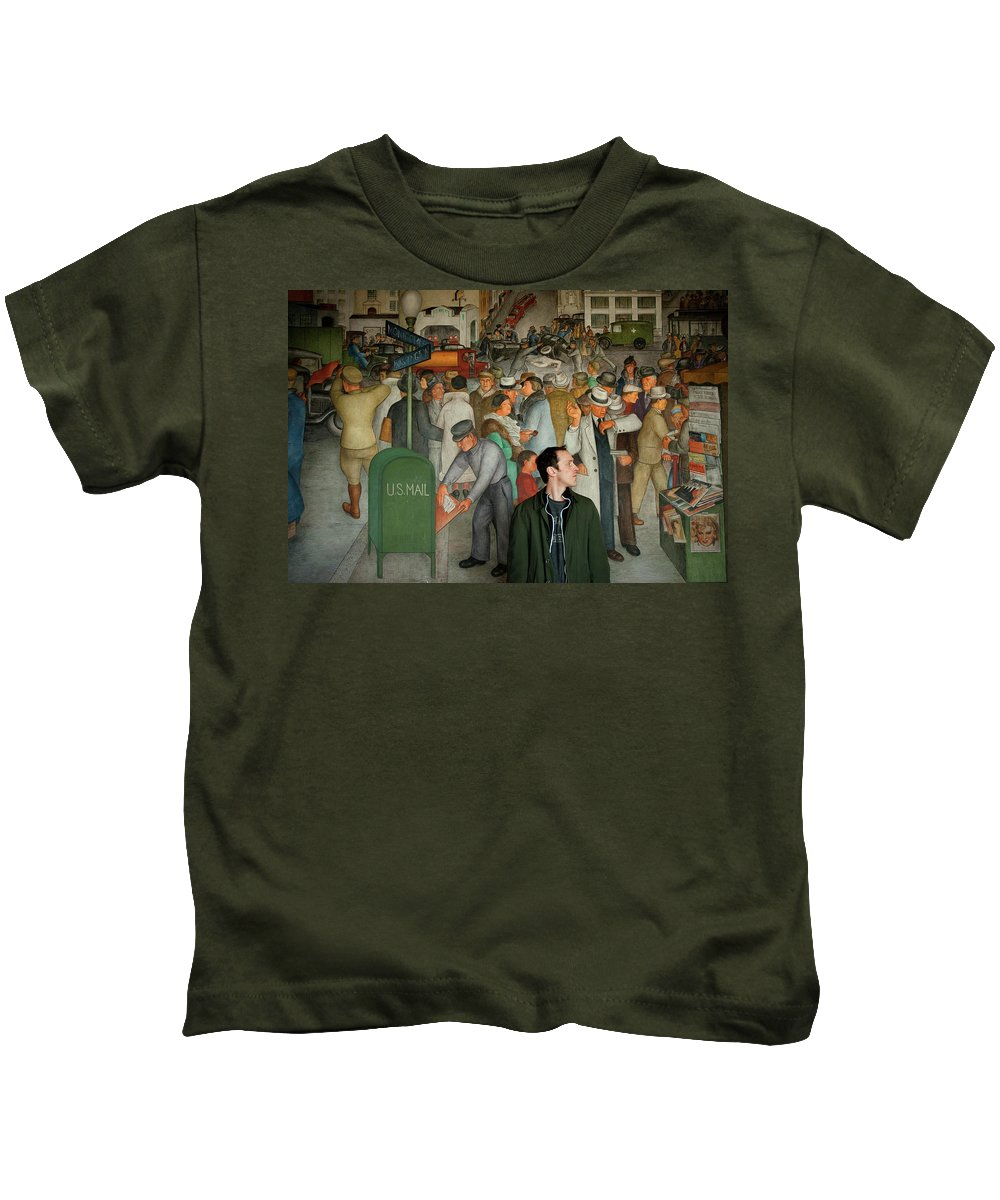 Chris Kids T-Shirt featuring the photograph Blending In by Greg Fortier