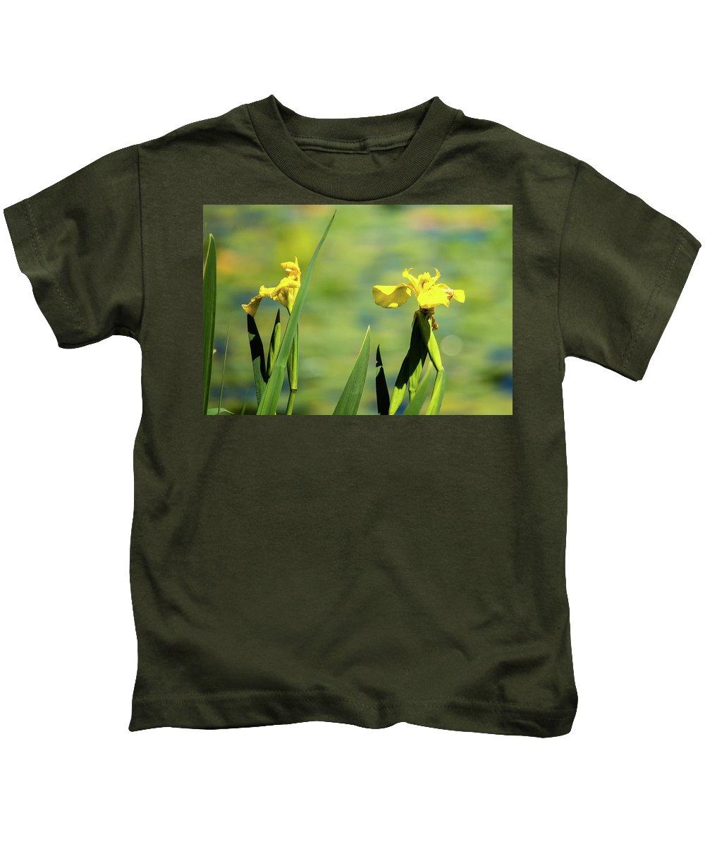 Green Lake Kids T-Shirt featuring the photograph Blooming At Green Lake by Robert Briggs