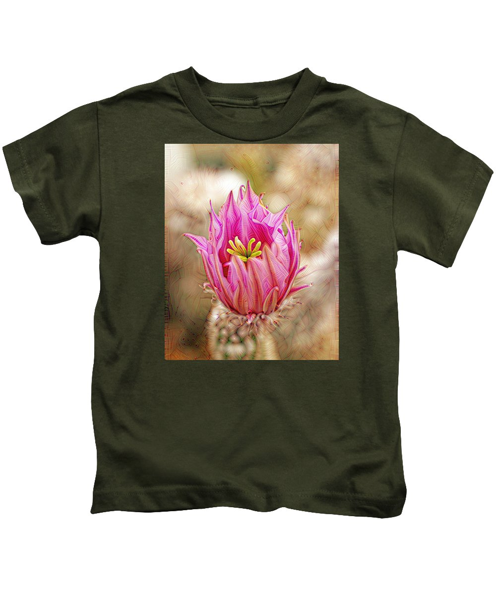 Abstract Kids T-Shirt featuring the photograph Blooming For You by Bill Morgenstern