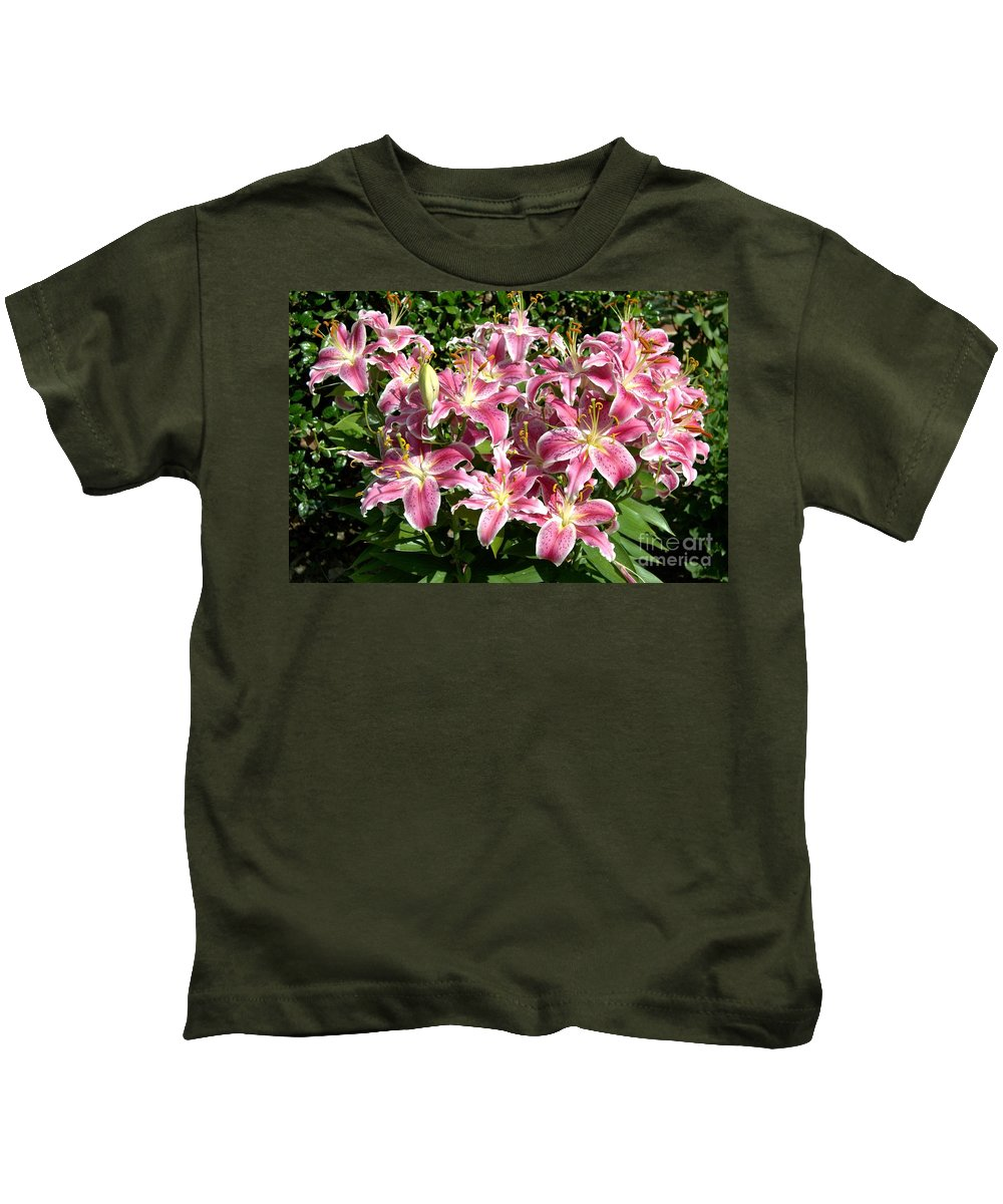 Flowers Kids T-Shirt featuring the photograph Blossoms Of Chase Lane by Harry Burleigh