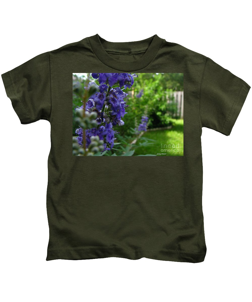 Art For The Wall...patzer Photography Kids T-Shirt featuring the photograph Blue Butterfly by Greg Patzer
