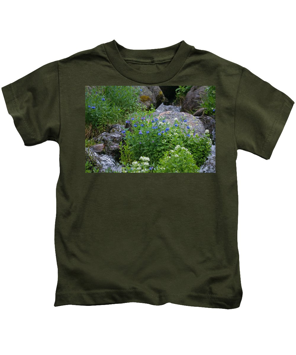 Wildflowers Kids T-Shirt featuring the photograph Bluebells by Heather Coen