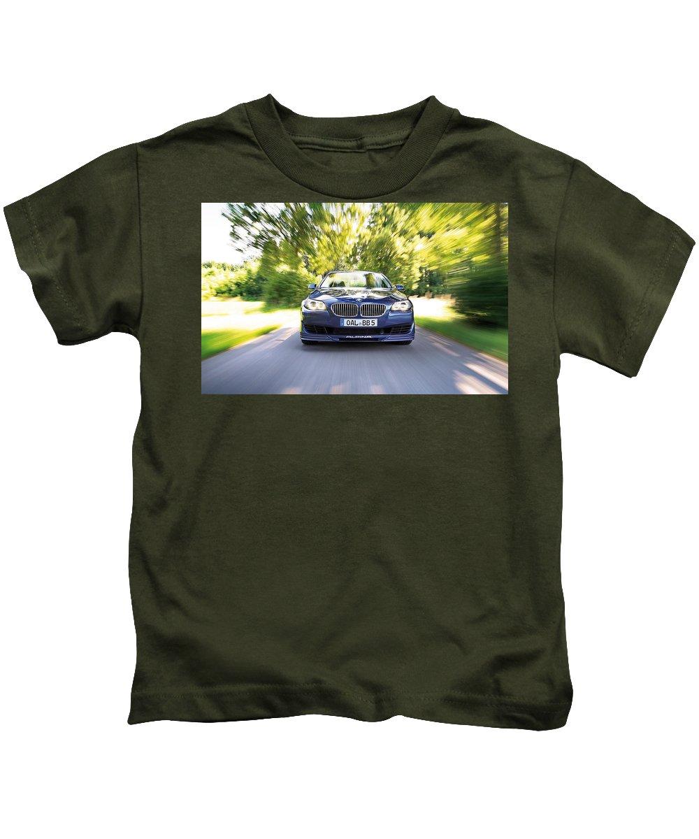 Bmw Kids T-Shirt featuring the digital art BMW by Dorothy Binder