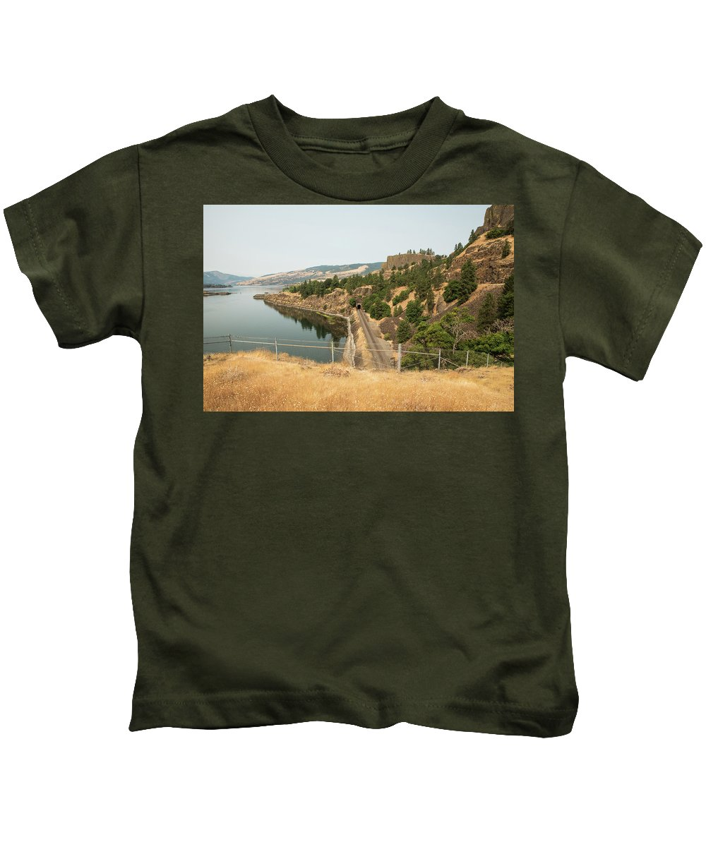 Bnsf Tunnel Kids T-Shirt featuring the photograph Bnsf Tunnel by Tom Cochran