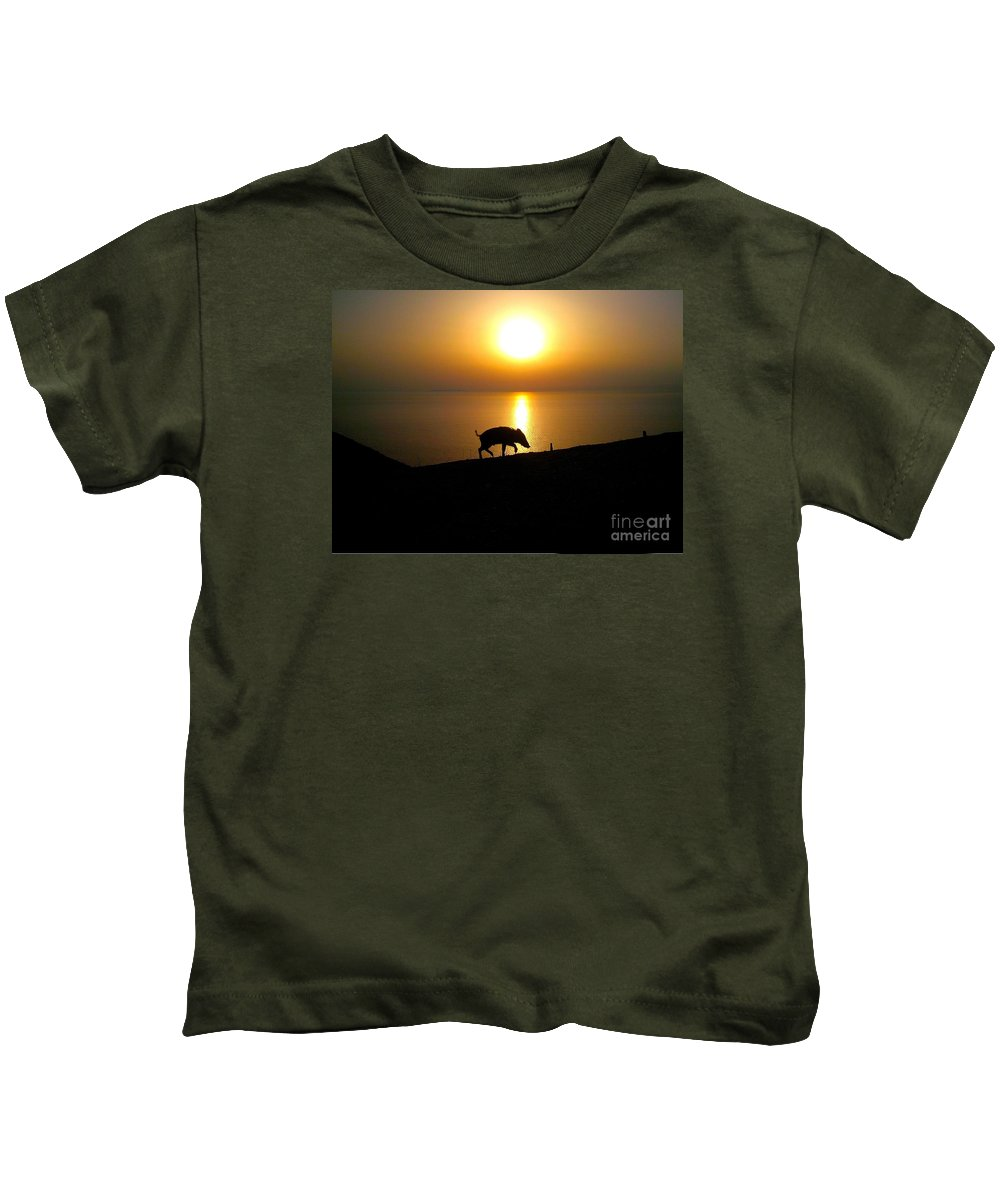 Sea Kids T-Shirt featuring the photograph Boar To Sea by Valerio Poccobelli