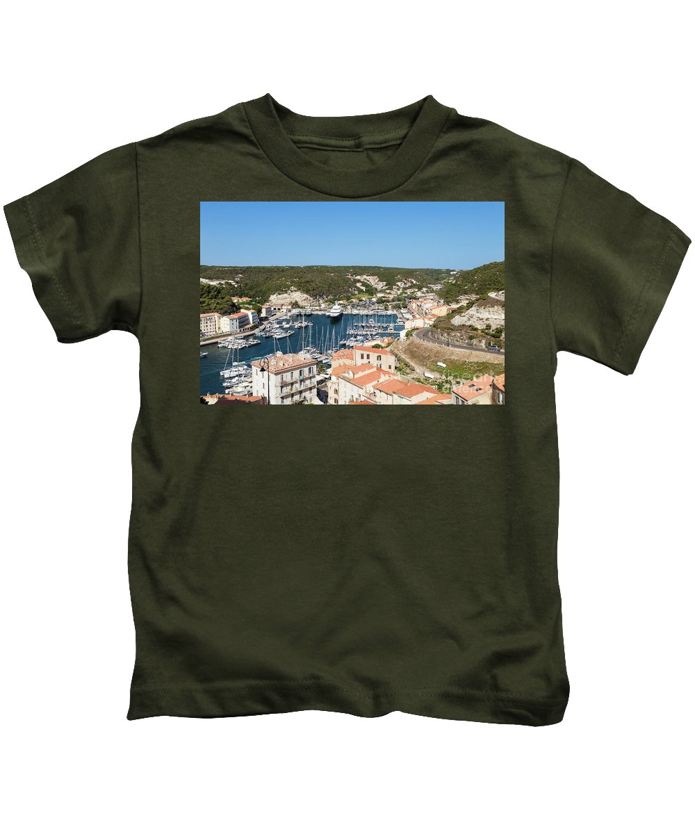 Bonifacio Kids T-Shirt featuring the photograph Bonifacio Harbor by Didier Marti