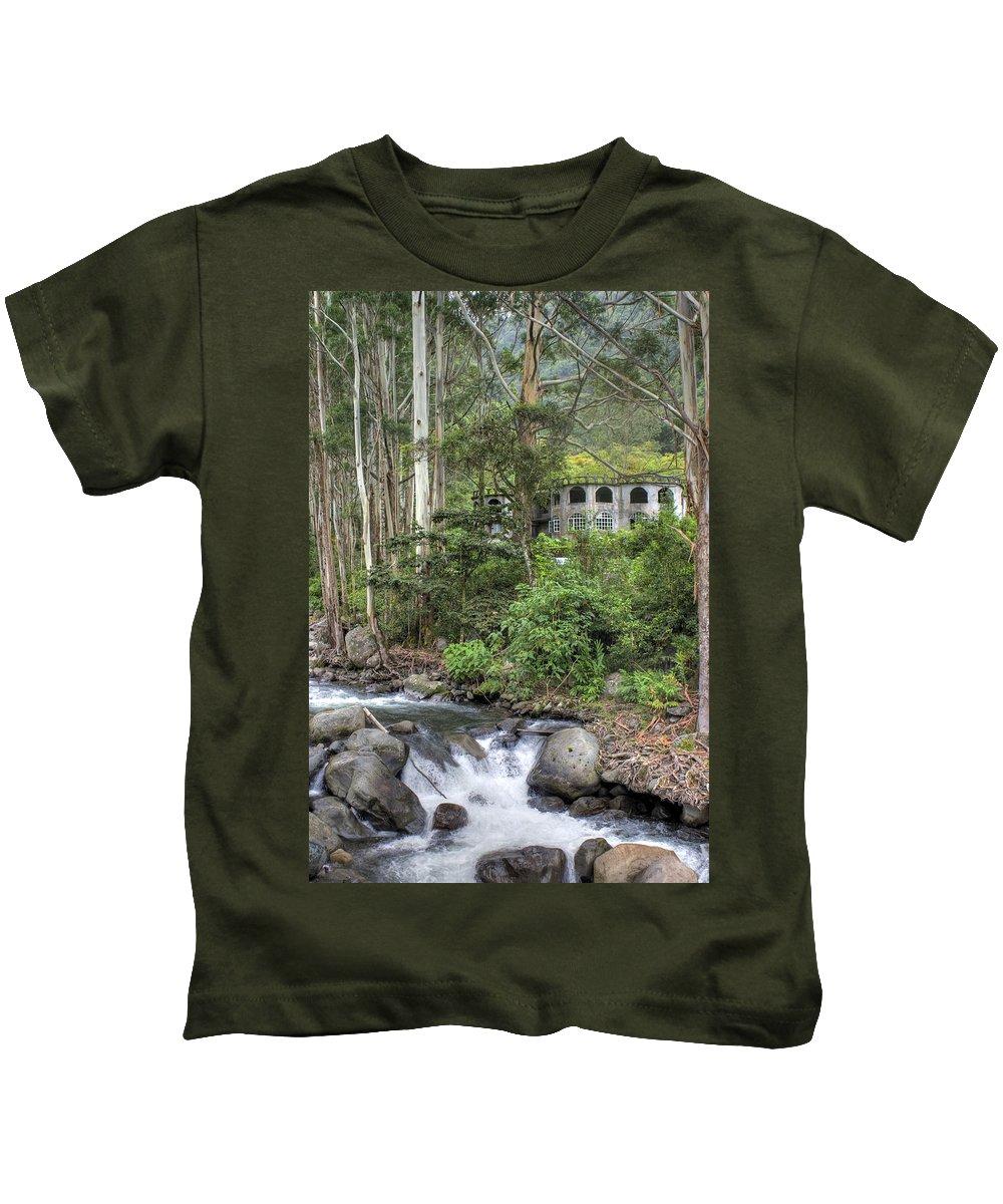 Castle Kids T-Shirt featuring the photograph Boquete Castle by Dolly Sanchez