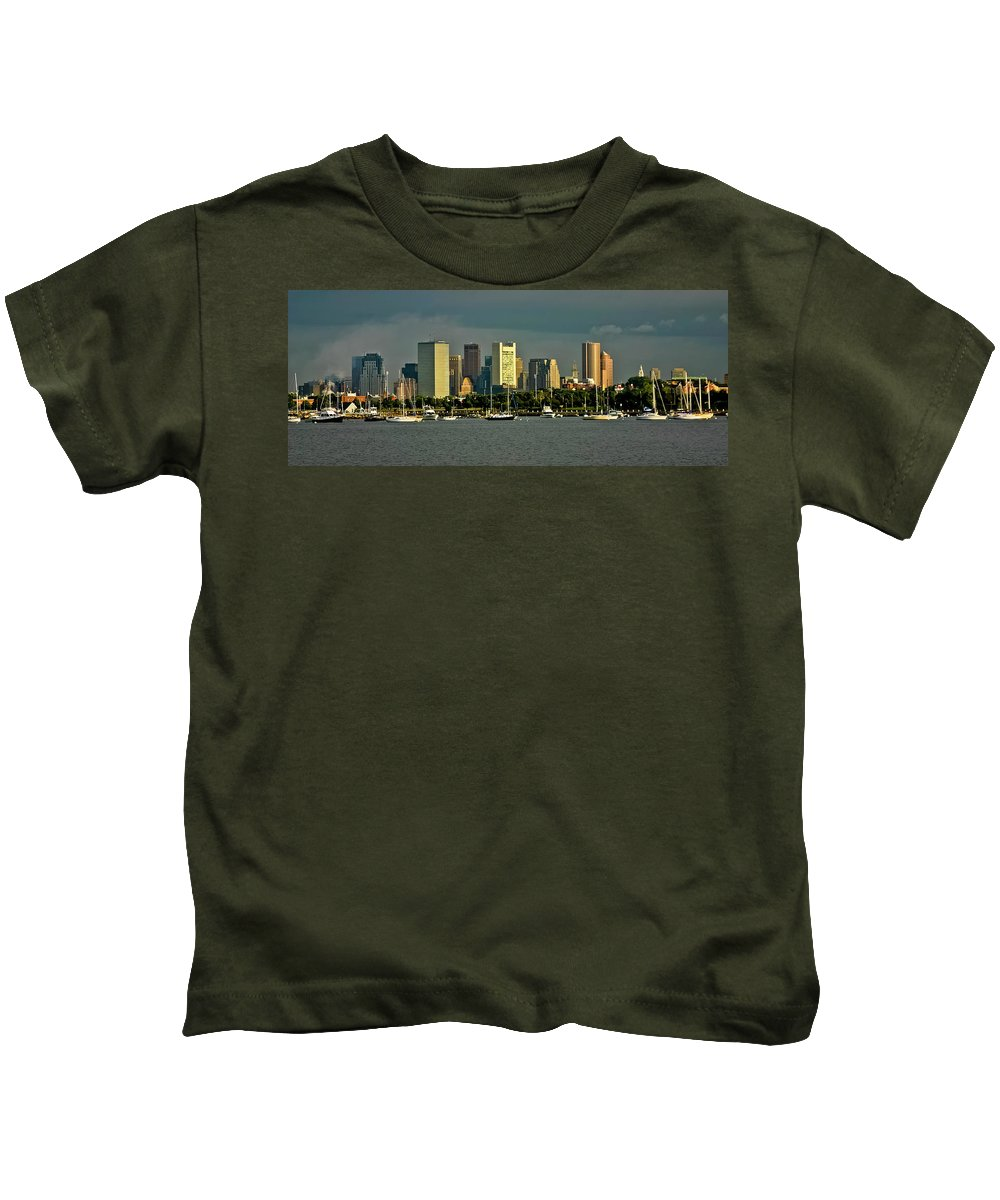 Boston Kids T-Shirt featuring the photograph Boston Skyline by Albert Seger