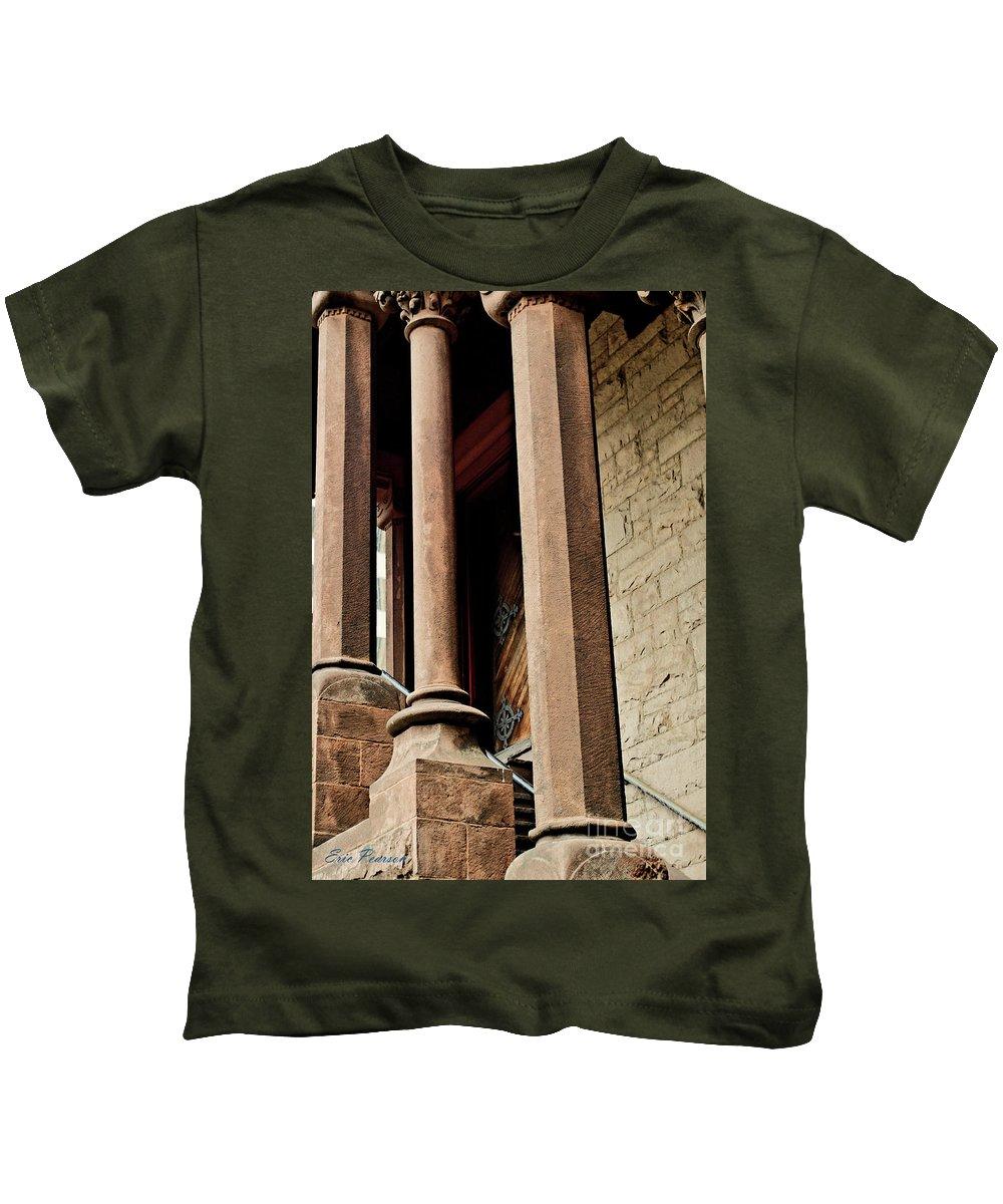 Church Kids T-Shirt featuring the photograph Boston Trinity Church by Eric Pearson