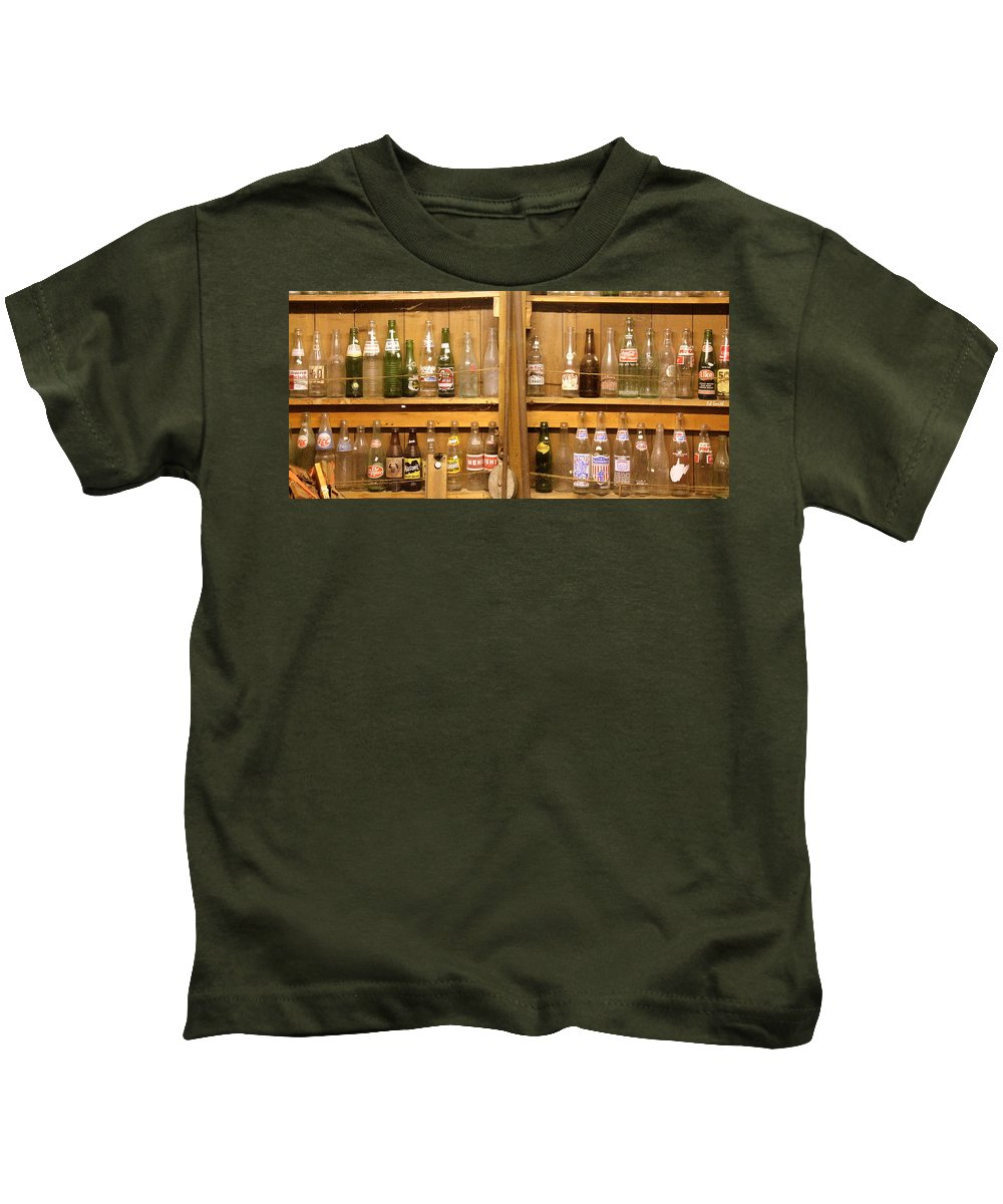 Botellas Antiguas Kids T-Shirt featuring the photograph Botellas Antiguas by Ed Smith
