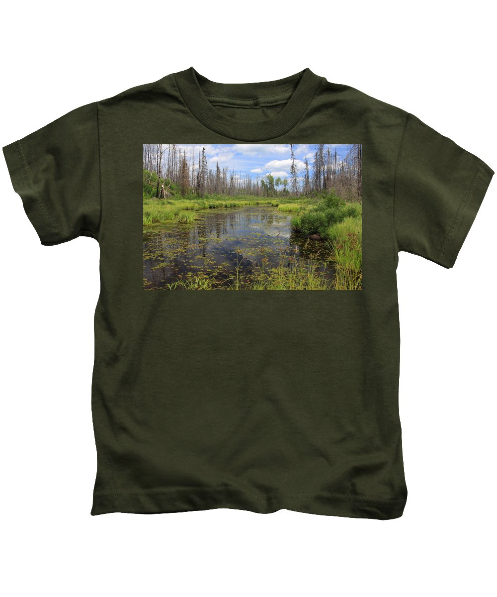Boundary Waters Minnesota Lake Pond Swamp Nature Forest Park Lake Superior National Forest Kids T-Shirt featuring the photograph Boundary Waters Beauty by Shari Jardina