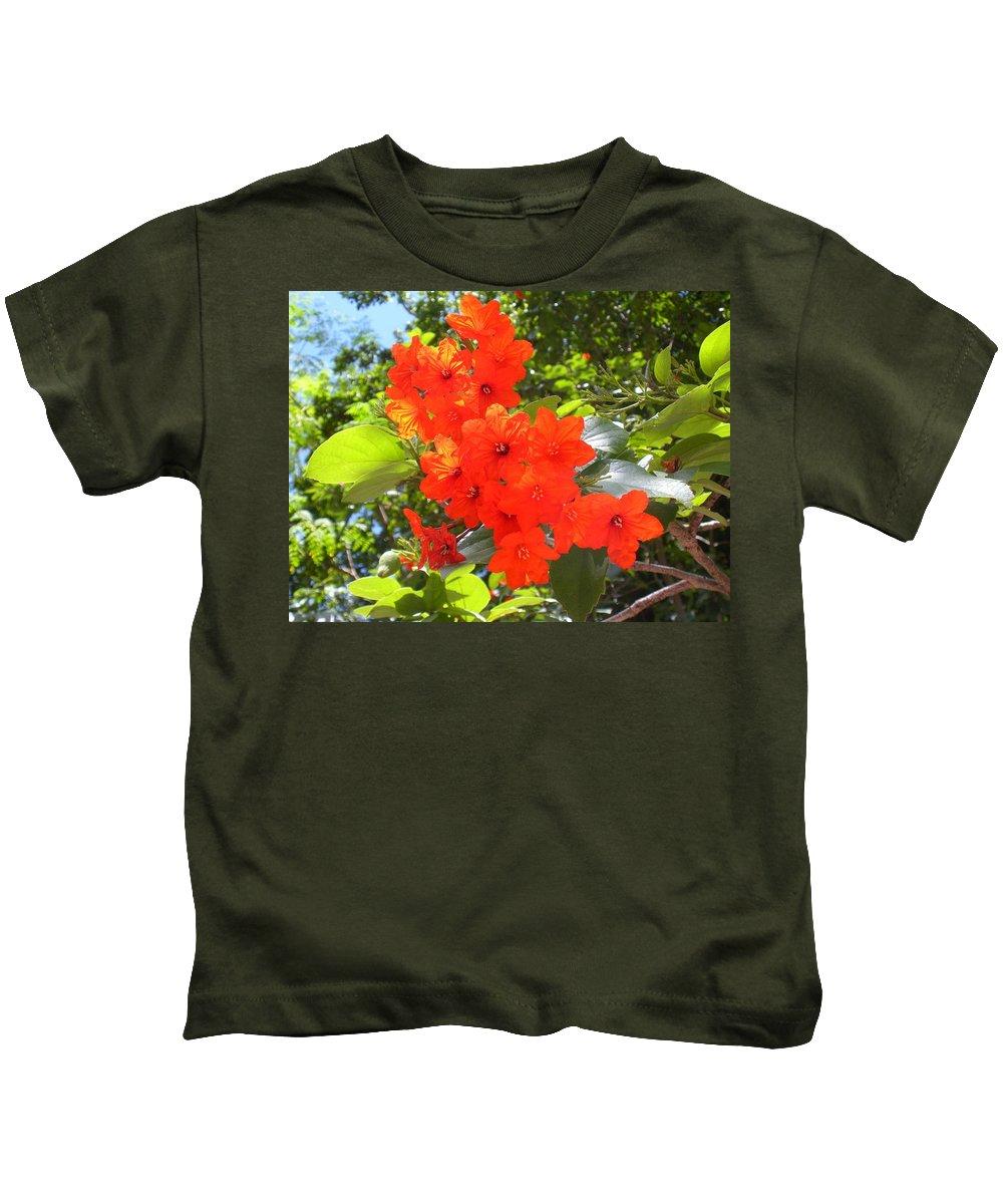 Flowers Kids T-Shirt featuring the photograph Brilliant Blossoms by Maria Bonnier-Perez