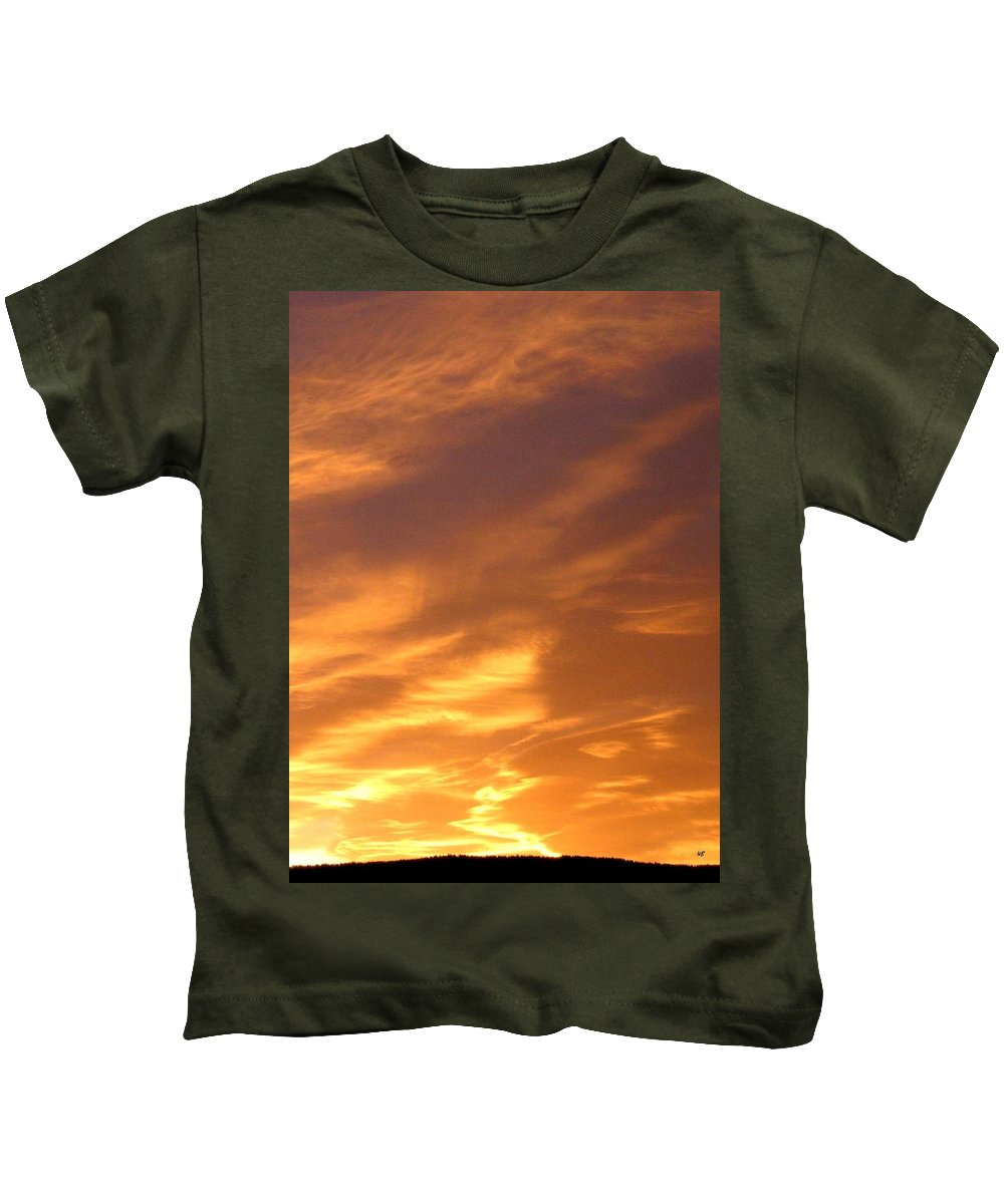 Sunset Kids T-Shirt featuring the photograph Brilliant Spring Sky by Will Borden