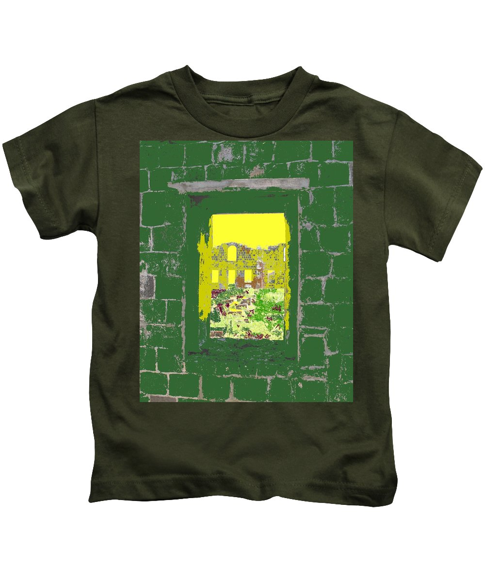 Brimstone Kids T-Shirt featuring the photograph Brimstone Window by Ian MacDonald