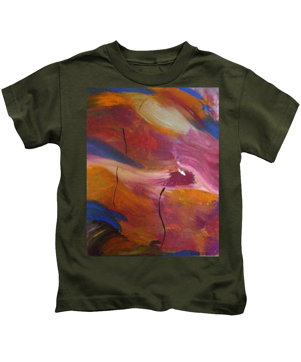 Abstract Art Kids T-Shirt featuring the painting Broken Heart by Kelly Turner