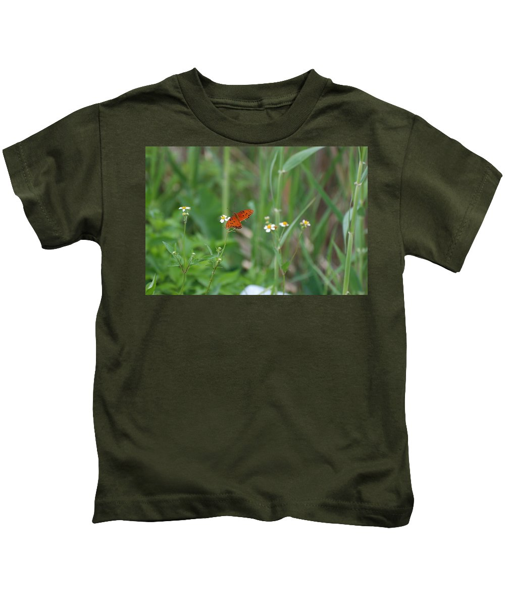 Butterfly Kids T-Shirt featuring the photograph Broken Wing by Rob Hans