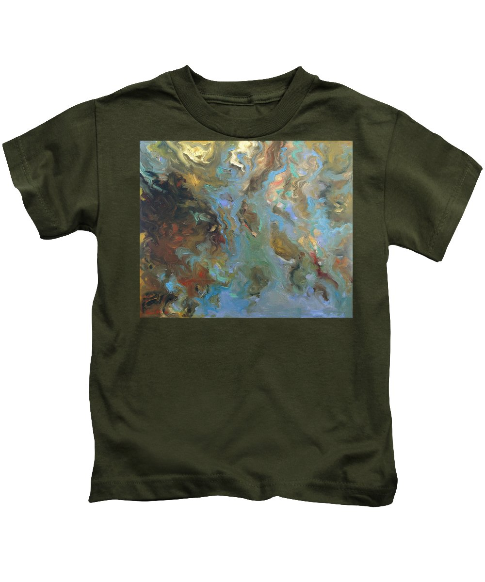 Water Kids T-Shirt featuring the painting Brown by Rick Nederlof
