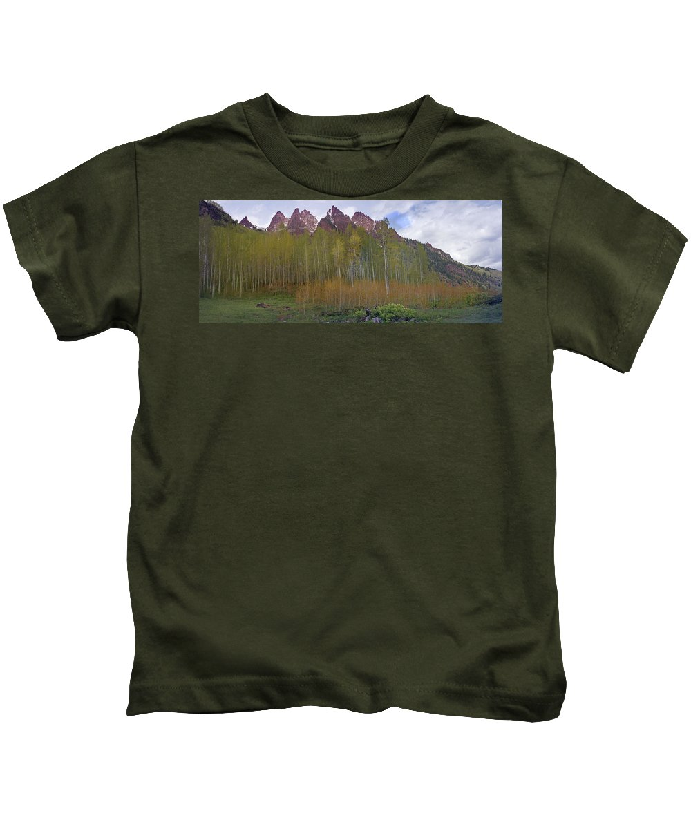 Mountain Kids T-Shirt featuring the photograph Buckskin Mtn And Friends by Heather Coen