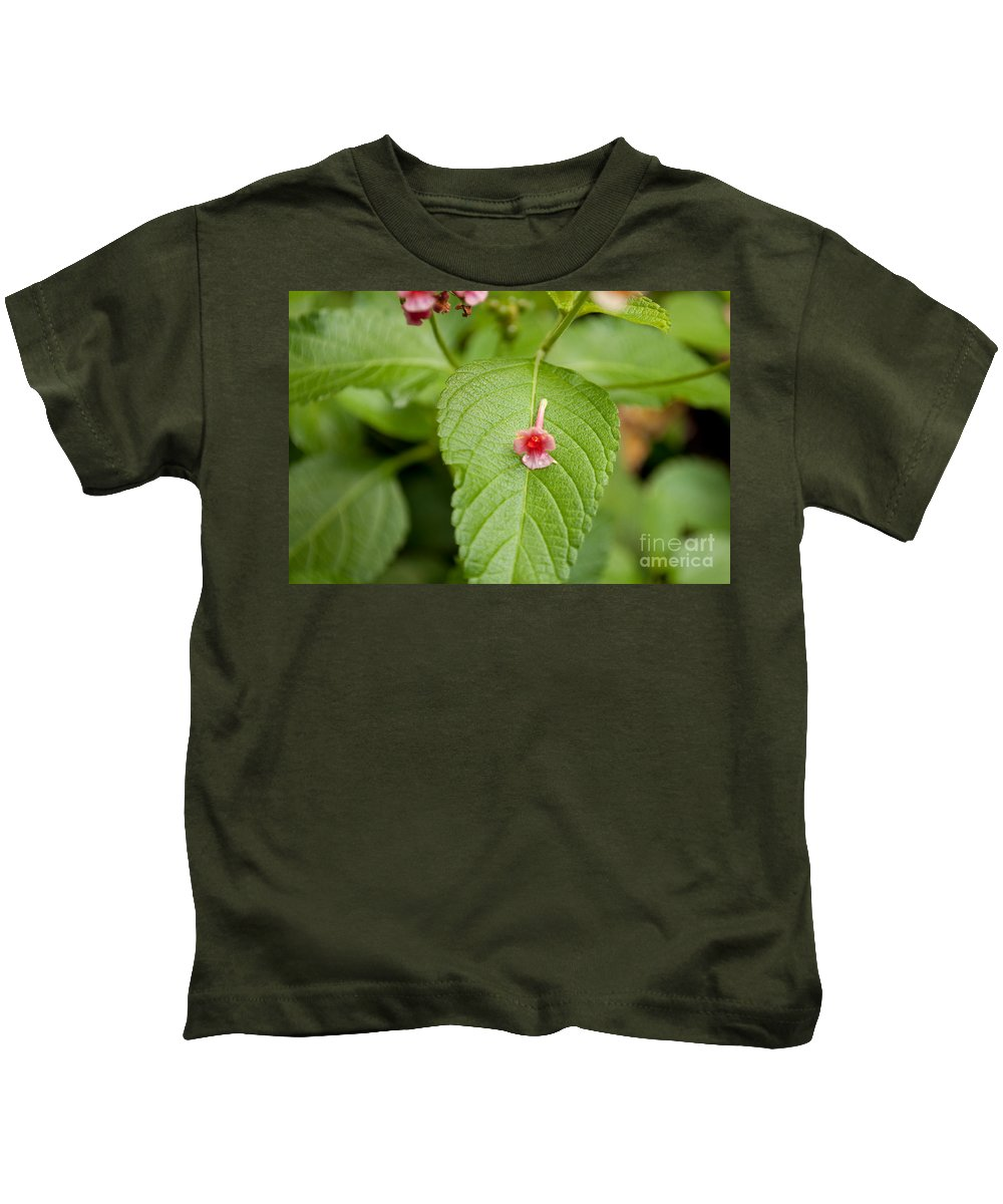 Green Kids T-Shirt featuring the photograph Bud by Paulette B Wright