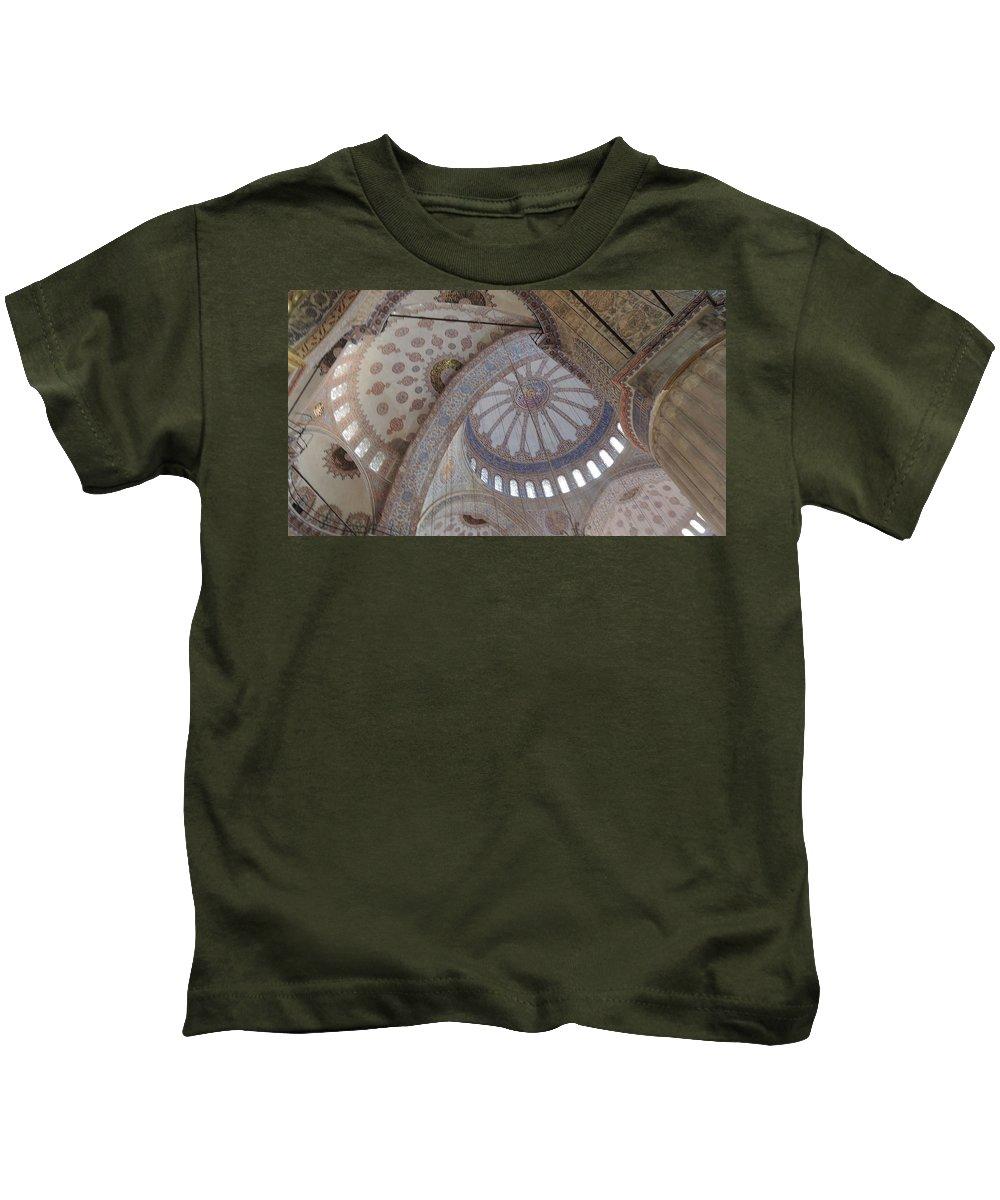 Building Kids T-Shirt featuring the photograph Building Designs by Chris Patel