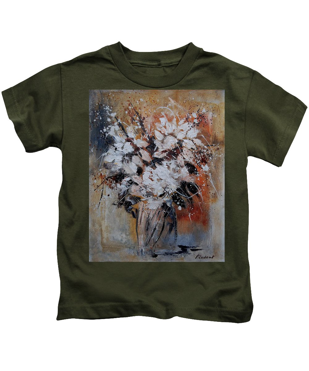 Flowers Kids T-Shirt featuring the painting Bunch 45900140 by Pol Ledent
