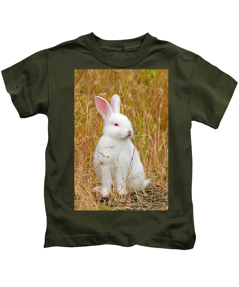Rabbit Kids T-Shirt featuring the photograph Bunny by Randall Ingalls