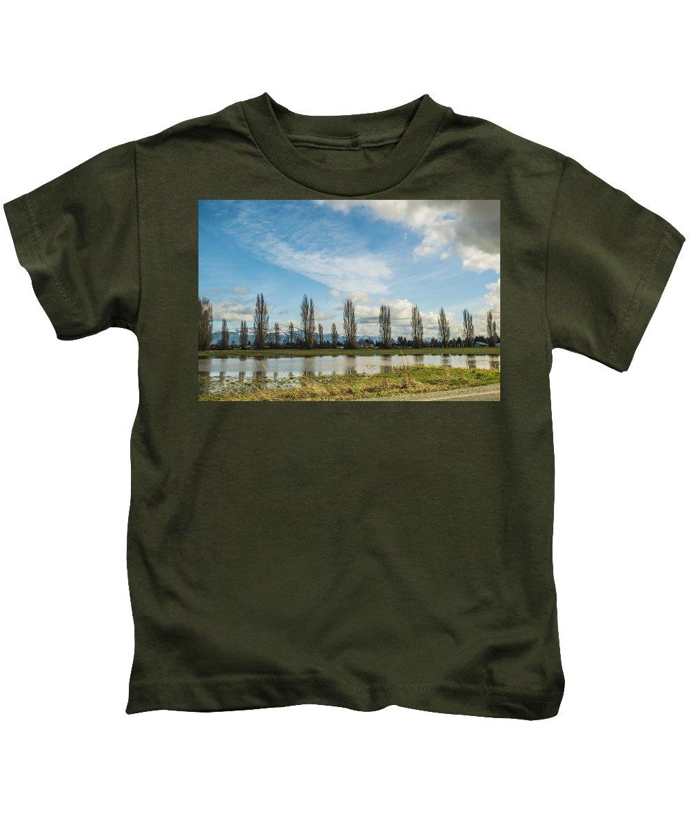 Trees Kids T-Shirt featuring the photograph Burlington Fields by Stephen Coletta