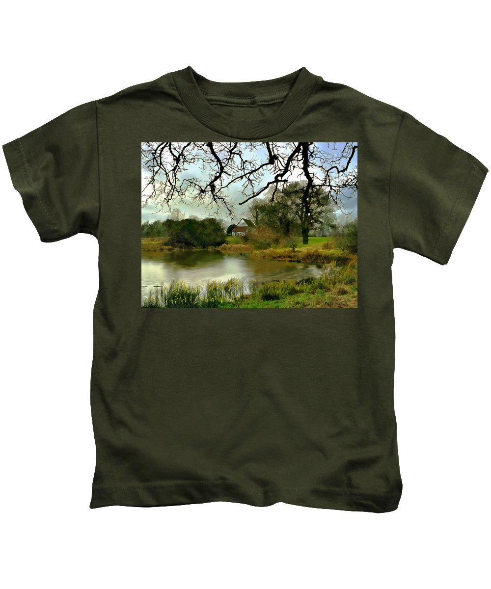 England Kids T-Shirt featuring the photograph Butlers Retreat Epping Forest Uk by Kurt Van Wagner