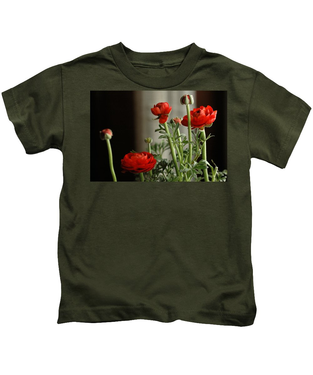 Flower Kids T-Shirt featuring the photograph Buttercup Backlight by Guido Strambio
