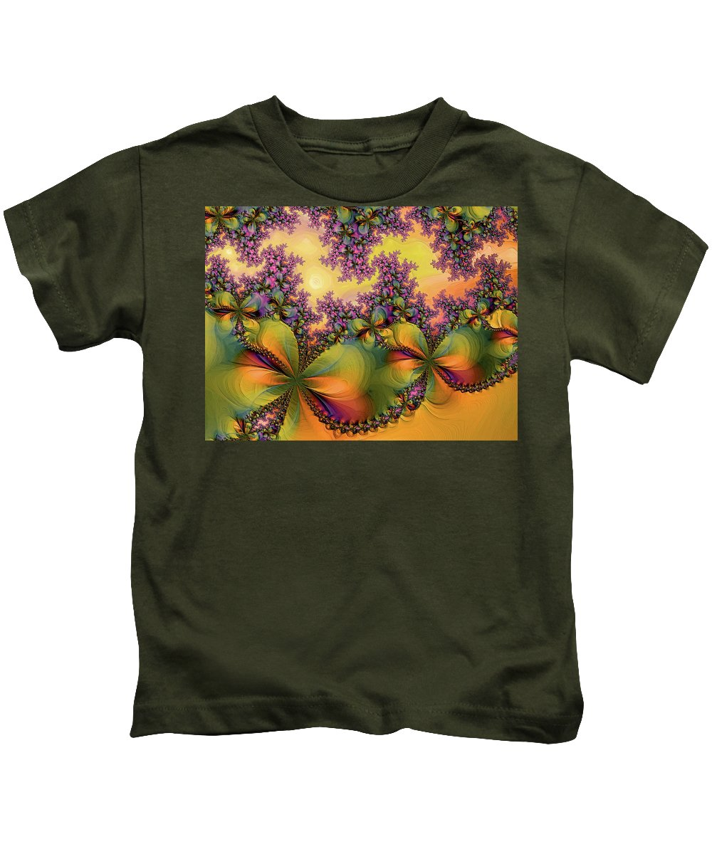 Digital Art Kids T-Shirt featuring the digital art Butterflies 2 by Alexandru Bucovineanu