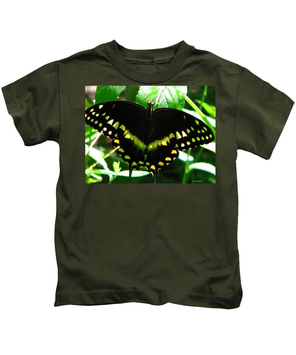 Patzer Kids T-Shirt featuring the photograph Butterfly Art 3 by Greg Patzer