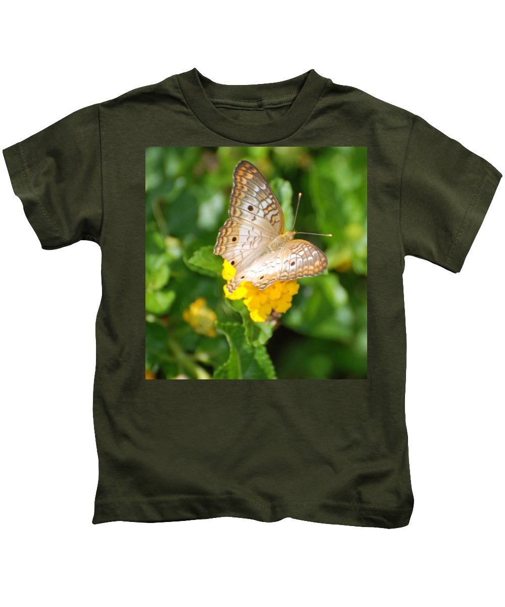 Butterfly Kids T-Shirt featuring the photograph Butterflywith Dots by Rob Hans