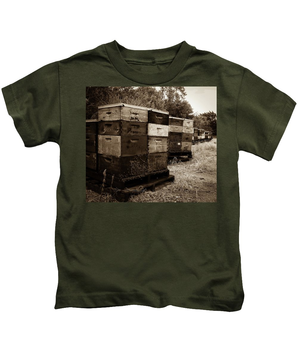 Beehive Kids T-Shirt featuring the photograph Buzzed by Charlie Grindrod