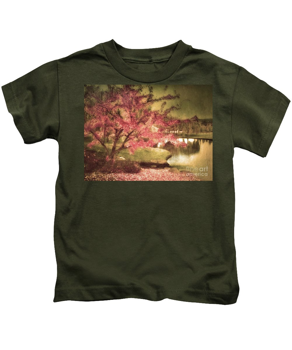 Tree Kids T-Shirt featuring the photograph By The Water by Tara Turner