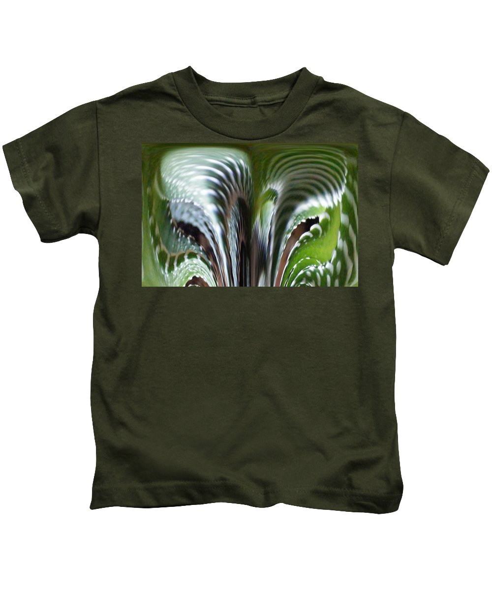 Cactus Digital Art Kids T-Shirt featuring the photograph Cactus Predator by Barbara Griffin