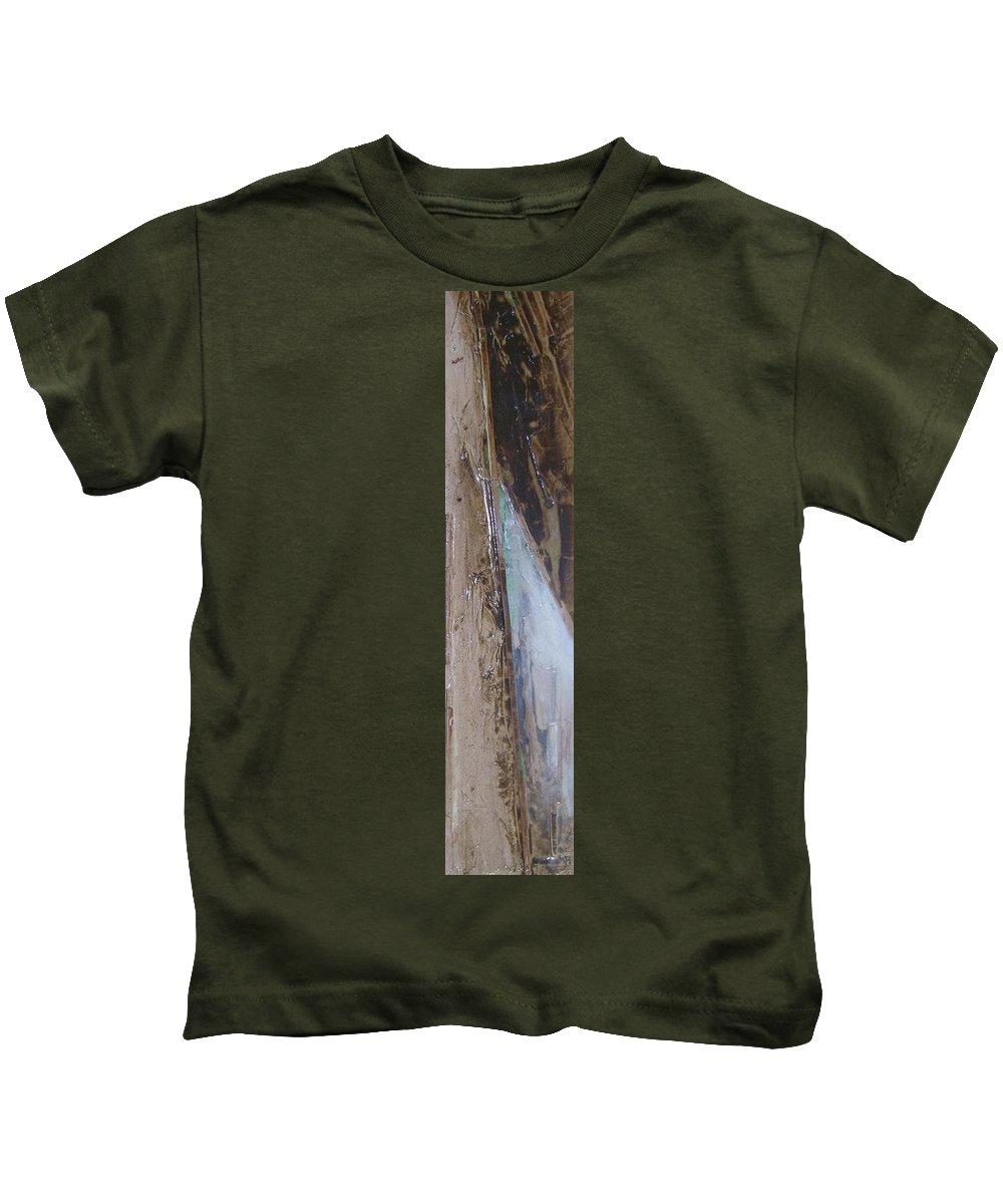 Canvas Kids T-Shirt featuring the painting Cafe Au Lait by Leah Hicks