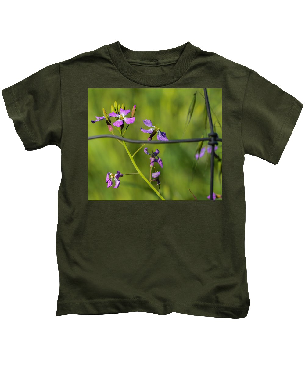 Macro Lens Kids T-Shirt featuring the photograph Caged by Miranda Strapason
