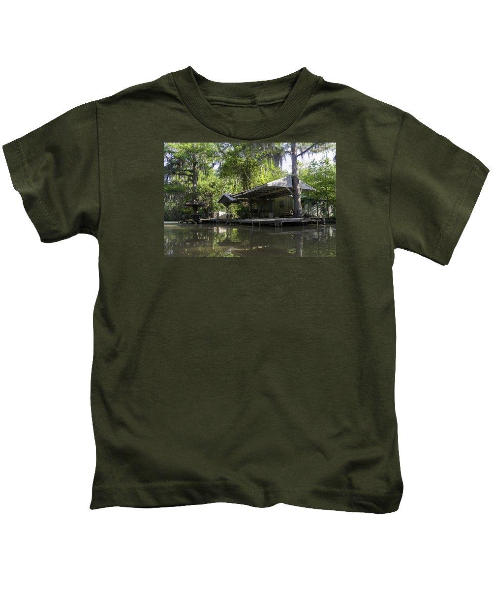 Louisiana Wetlands Kids T-Shirt featuring the photograph Cajun Shangri-la by Richard Waller