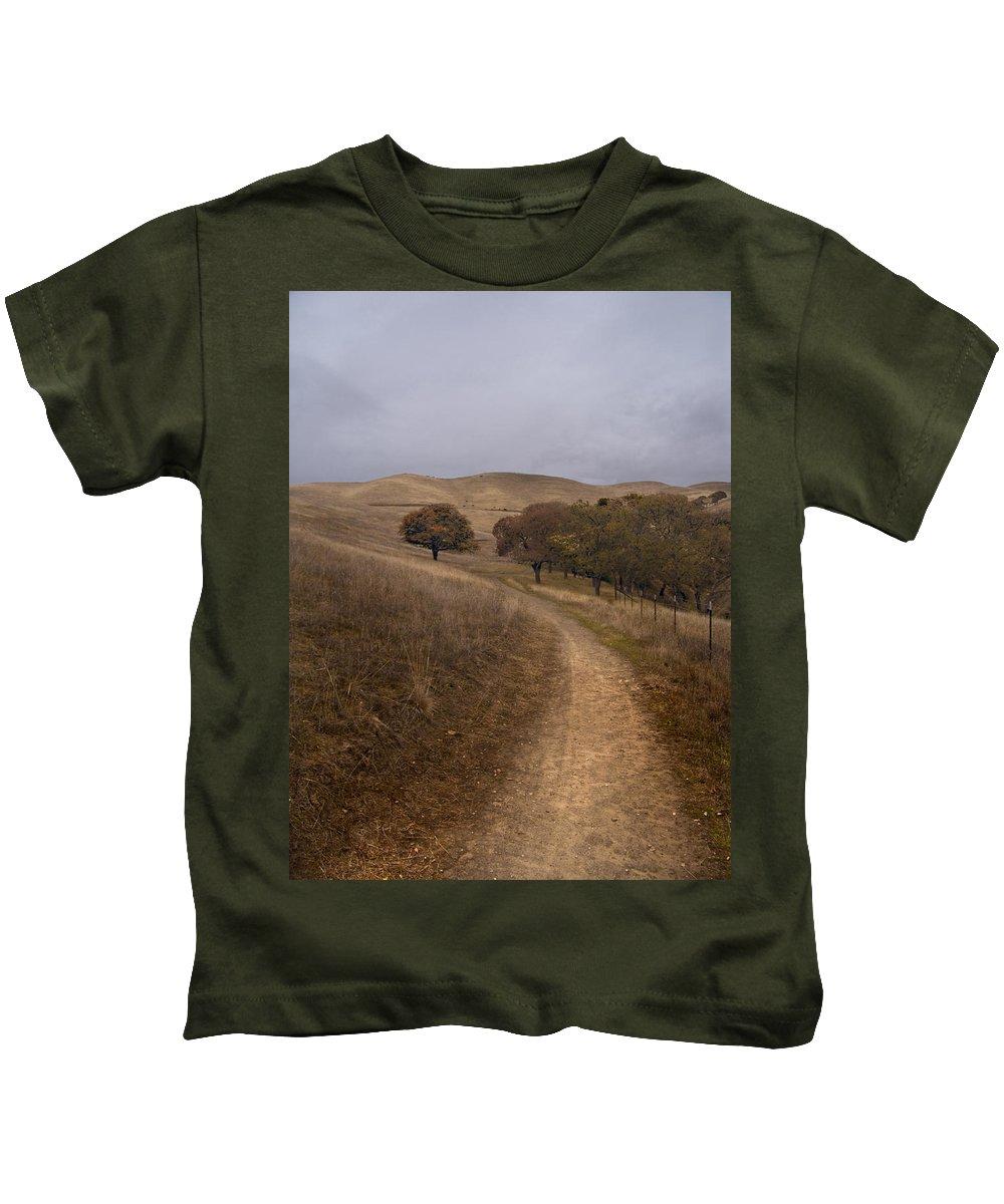 Landscape Kids T-Shirt featuring the photograph California Winter by Karen W Meyer