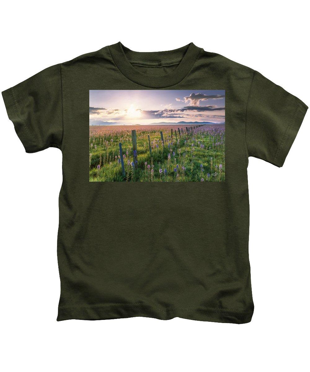 Beautiful Kids T-Shirt featuring the photograph Camas Marsh 3 by Leland D Howard