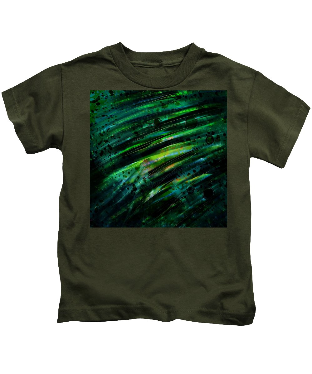 Abstract Kids T-Shirt featuring the digital art Can You Hear Voices by Rachel Christine Nowicki