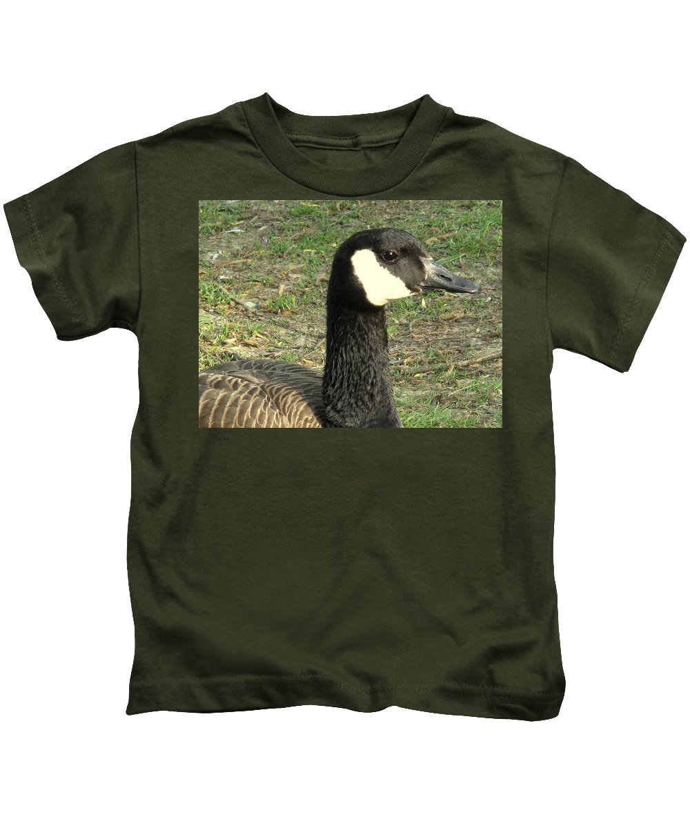 Canada Kids T-Shirt featuring the photograph Canada Goose by Ian MacDonald