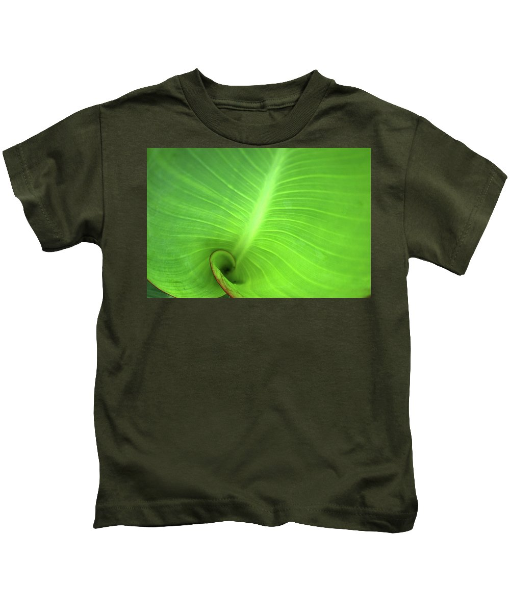 Background Kids T-Shirt featuring the photograph Canalilly Ear by Charles Bacon Jr