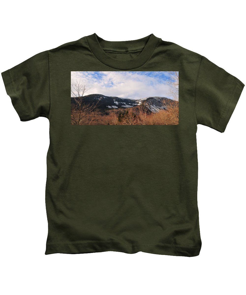 Back Roads Of New Hampshire January 28 Kids T-Shirt featuring the photograph Canon From The Base Of Lafayette by Bill Driscoll